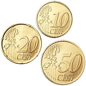 10, 20, 50 centu