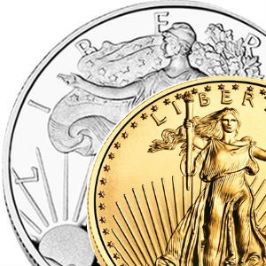 Bullion coins and bars