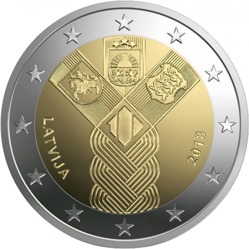 Iznāks jauna 2 eiro piemiņas monēta - Baltijas Valstīm - 100